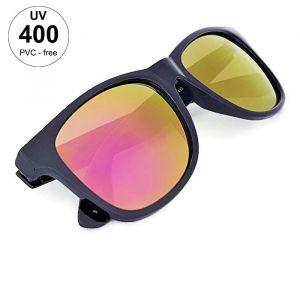 Sluneční brýle unisex - černá barva a zrcadlové skla GIIL