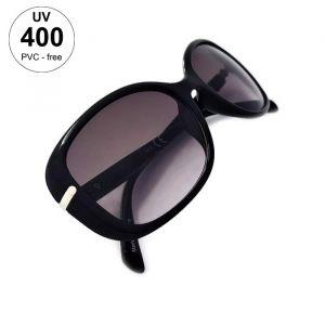 Dámské sluneční brýle černé barvy a stříbrným doplňkem GIIL