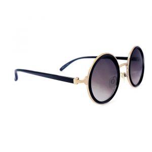 Kulaté dámské brýle černé barvy se zlatými doplňky GIIL