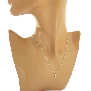 Jemný náhrdelník s malou perličkou 1