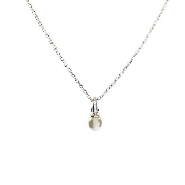 Jemný náhrdelník s malou perličkou