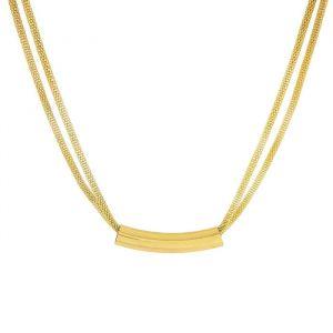 Náhrdelník trubička zlaté barvy