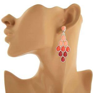 Náušnice s perličkovými kamínky různých odstínů GIIL