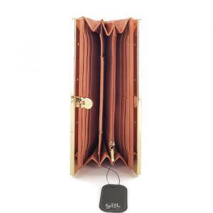 Peněženka ve starorůžové barvě s vyraženými motivy vlašťovek Ystrdy