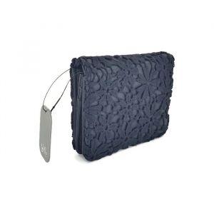 Designová černá peněženka zdobená krajkou