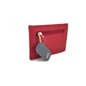 Červeno-krémová mini peněženka