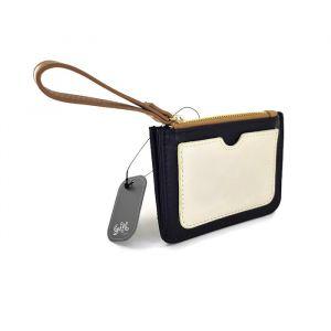 Černo-bílá mini peněženka