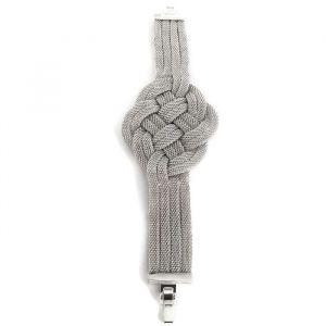 Propleteny náramek stříbrné barvy GIIL