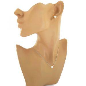 Sada náušnic a náhrdelníku s jemnými motivy srdíček 2