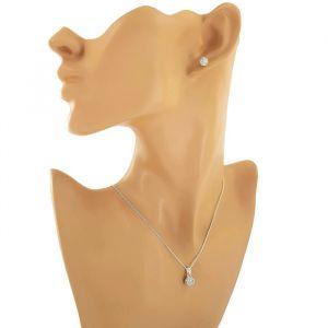 Kuličkový set náušnic a náhrdelníku s přívěskem