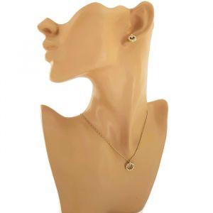 Set náušnic a náhrdelníku s přívěskem ve tvaru kroužku 1