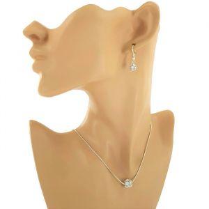 Sada náušnice a náhrdelník kamínkové kuličky 2