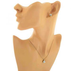 Zlatá sada náušnic a náhrdelníku s kamínky GIIL