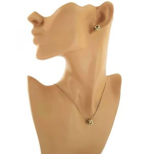 Zlatá sada náušnic a náhrdelníku s uzlíky GIIL