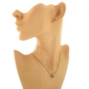 Sada náušnice a náhrdelník srdíčko a kamínky 1