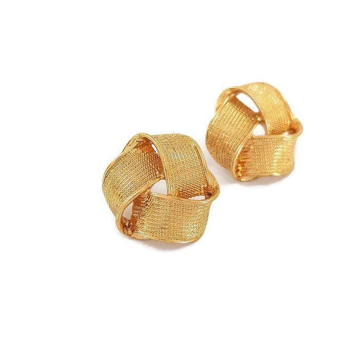 Zlaté náušnice velké uzlíky GIIL