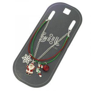 Trojitý náramek s vánočními ozdobami GIIL