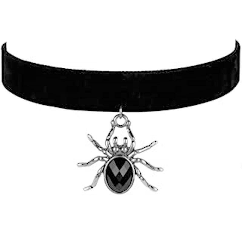 Černý choker s pavoukem GIIL