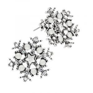 Náušnice kamínkové vločky s hvězdičkou
