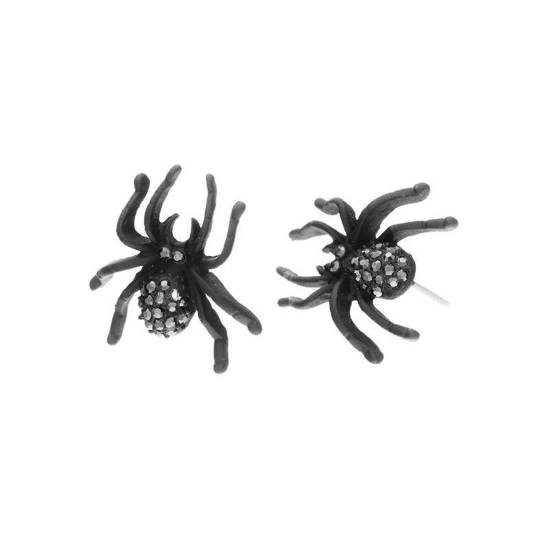 Černí pavouci s malými kamínky GIIL