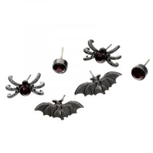 Set tří párů náušnic s Halloween tématikou