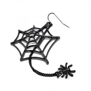 Náušnice pavučina s visícím pavoučkem