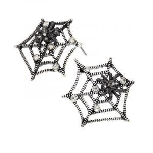 Náušnice pavučina s pavoukem