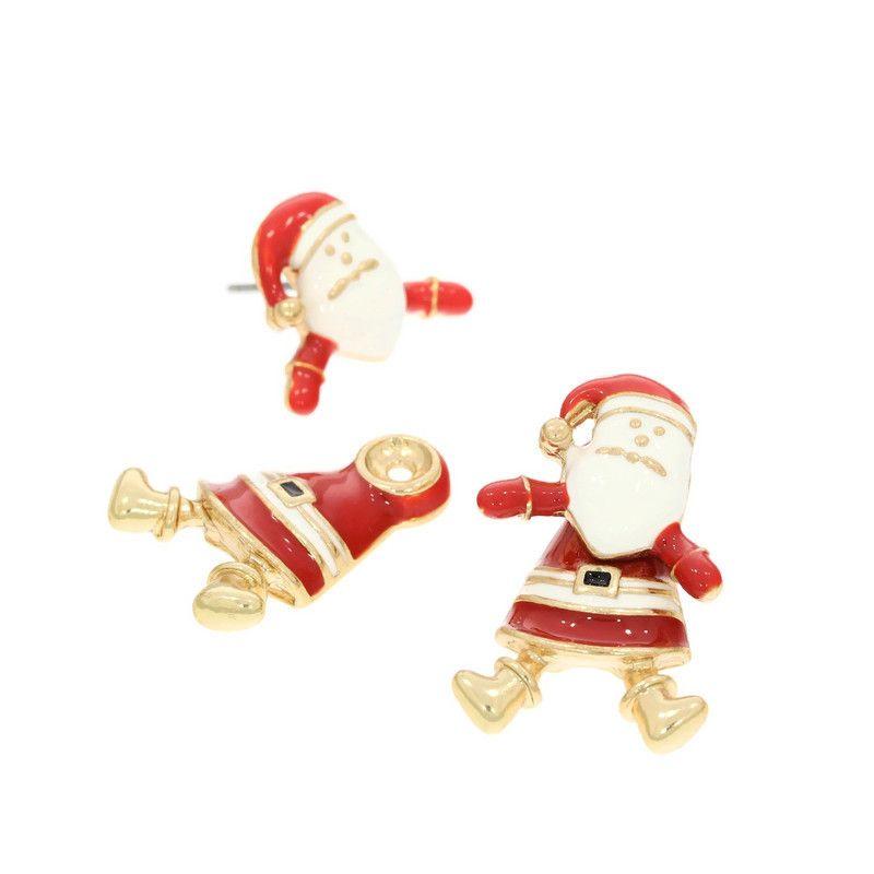 Náušnice pohyblivý Santa
