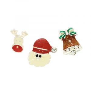 Sada náušnic sob, zvoneček a Santa