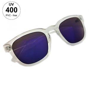 Transparentní brýle s modrými skly