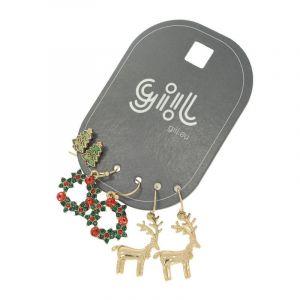 Sada vánočních náušnic GIIL