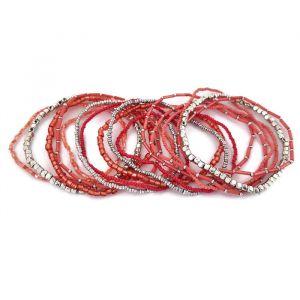 Náramek - sada několika s množstvím perliček a korálků GIIL