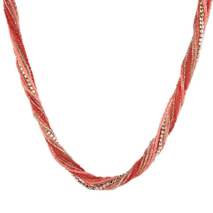 Provázkový korálkový náhrdelník