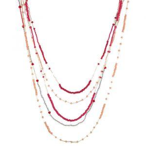 Vrstvený korálkový náhrdelník