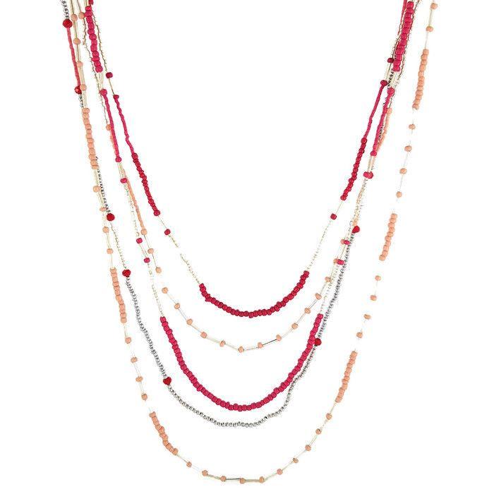 Dlouhý vrstvený korálkový náhrdelník GIIL