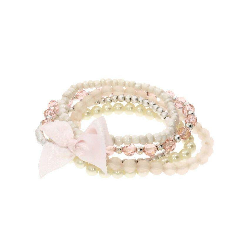 Růžové princeznovské korálkové náramky