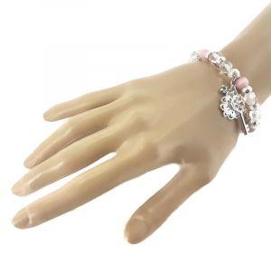 Růžový náramek s klíčkem GIIL