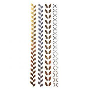 Zlatavé tetovačky: Asymetrické vzory
