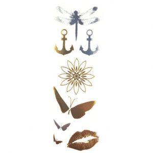 Zlatavé tetovačky: Vážka, motýl